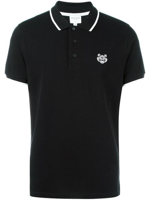 d911f66686 Kenzo Tipped Tiger Short-Sleeve Pique Polo, Black | ModeSens