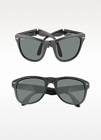 b0a3aa30dd7 Ray Ban Standard 50Mm Folding Wayfarer Sunglasses - Black