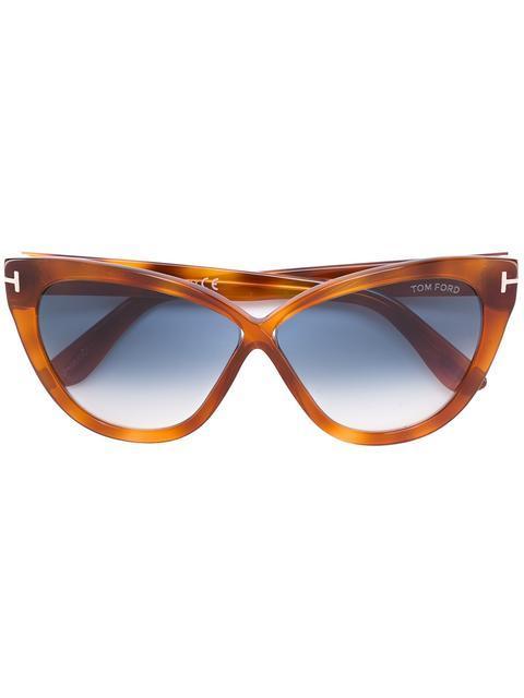 8d1f12af1d59 Tom Ford Eyewear Tortoiseshell Cat Eye Sunglasses - Brown | ModeSens