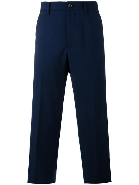 d31c93590f4 GUCCI Men's Military Twill Cropped Pants In Blue. Gucci Men