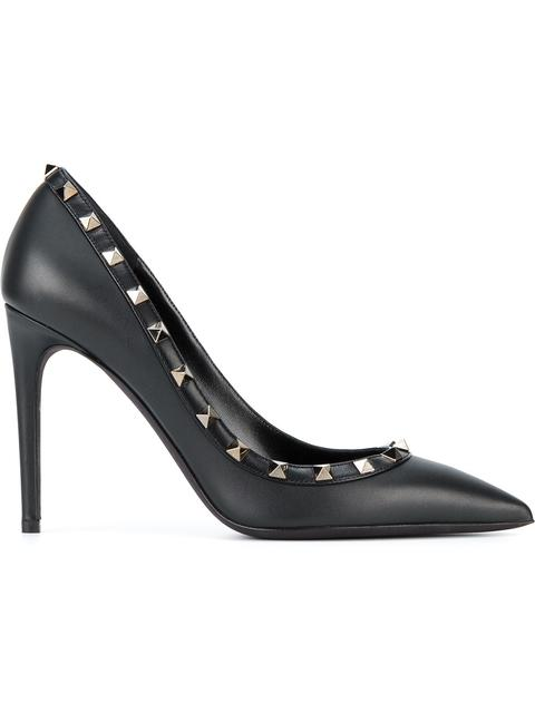 fbb600092dc Valentino Pumps Rockstud Noir Pumps 10 Cm Heel With Micro Studs In Black