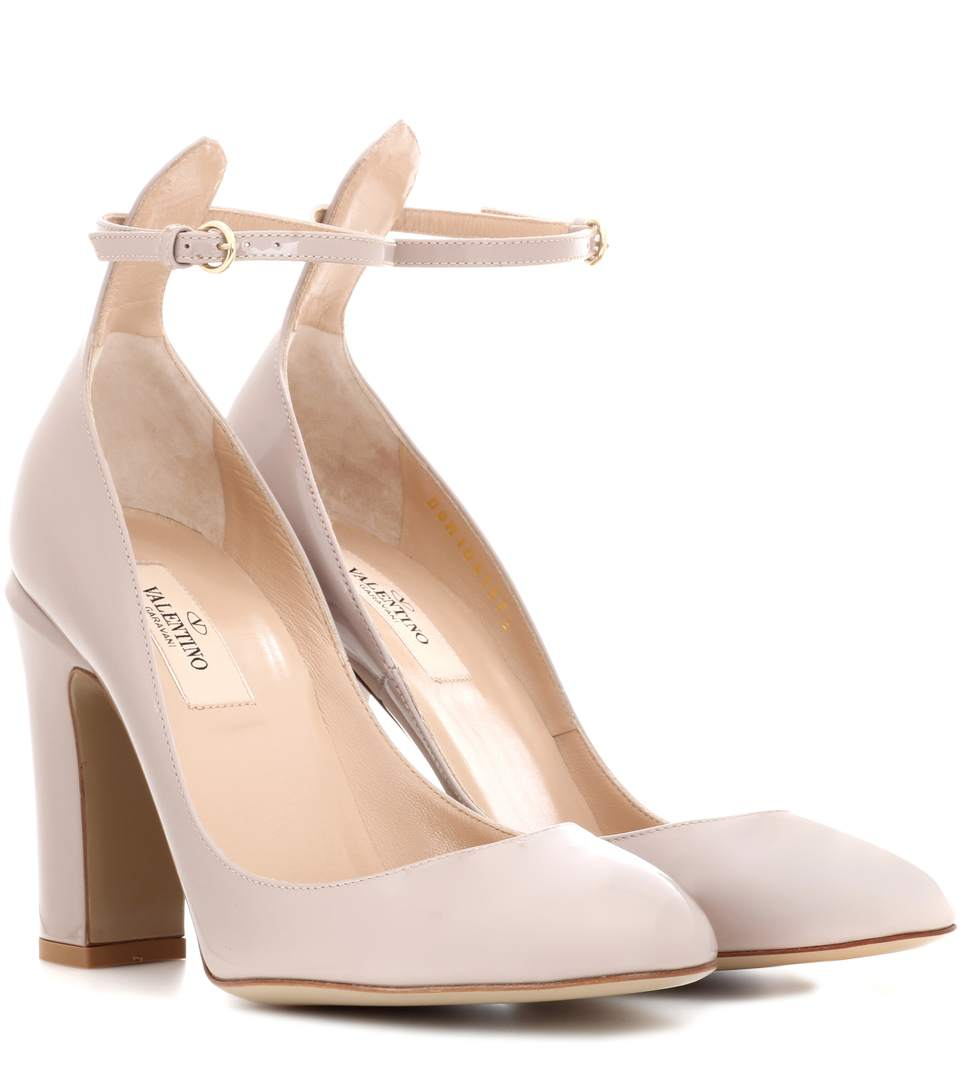 40ad0ec184110 Valentino Tan-Go Patent Leather Pumps In Water Rose | ModeSens