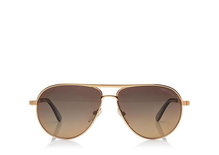 6446fa2b0b4ff Tom Ford Marko Aviator Polarized Sunglasses In Rosegold