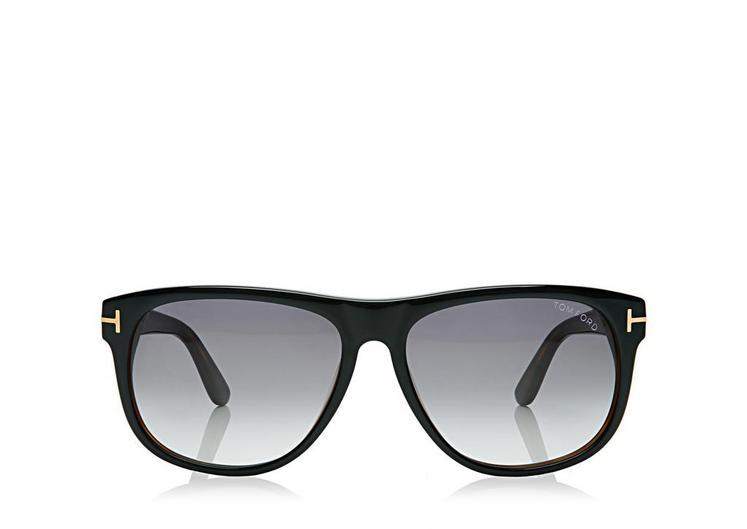 77f0be7aa25 Tom Ford Olivier Soft Square Sunglasses In Shinyblack