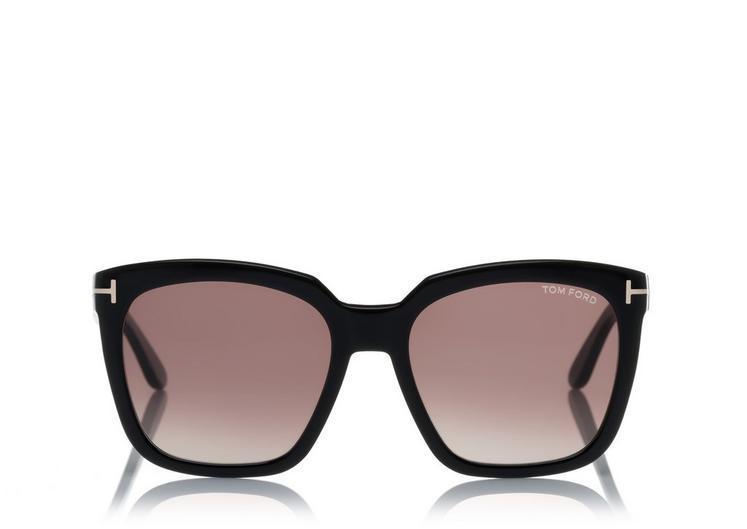 32fb84935deb Tom Ford Amarra 55Mm Gradient Lens Square Sunglasses In Black