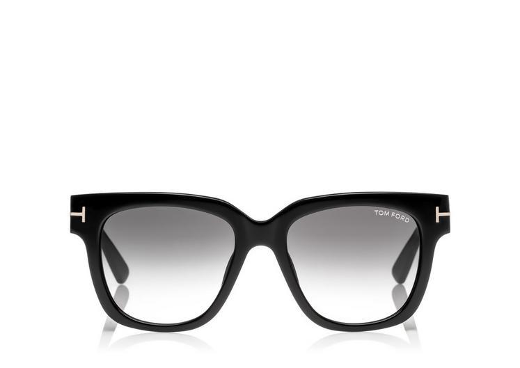 Tom Ford 'tracy' 53mm Retro Sunglasses - Shiny Black/ Gradient Smoke