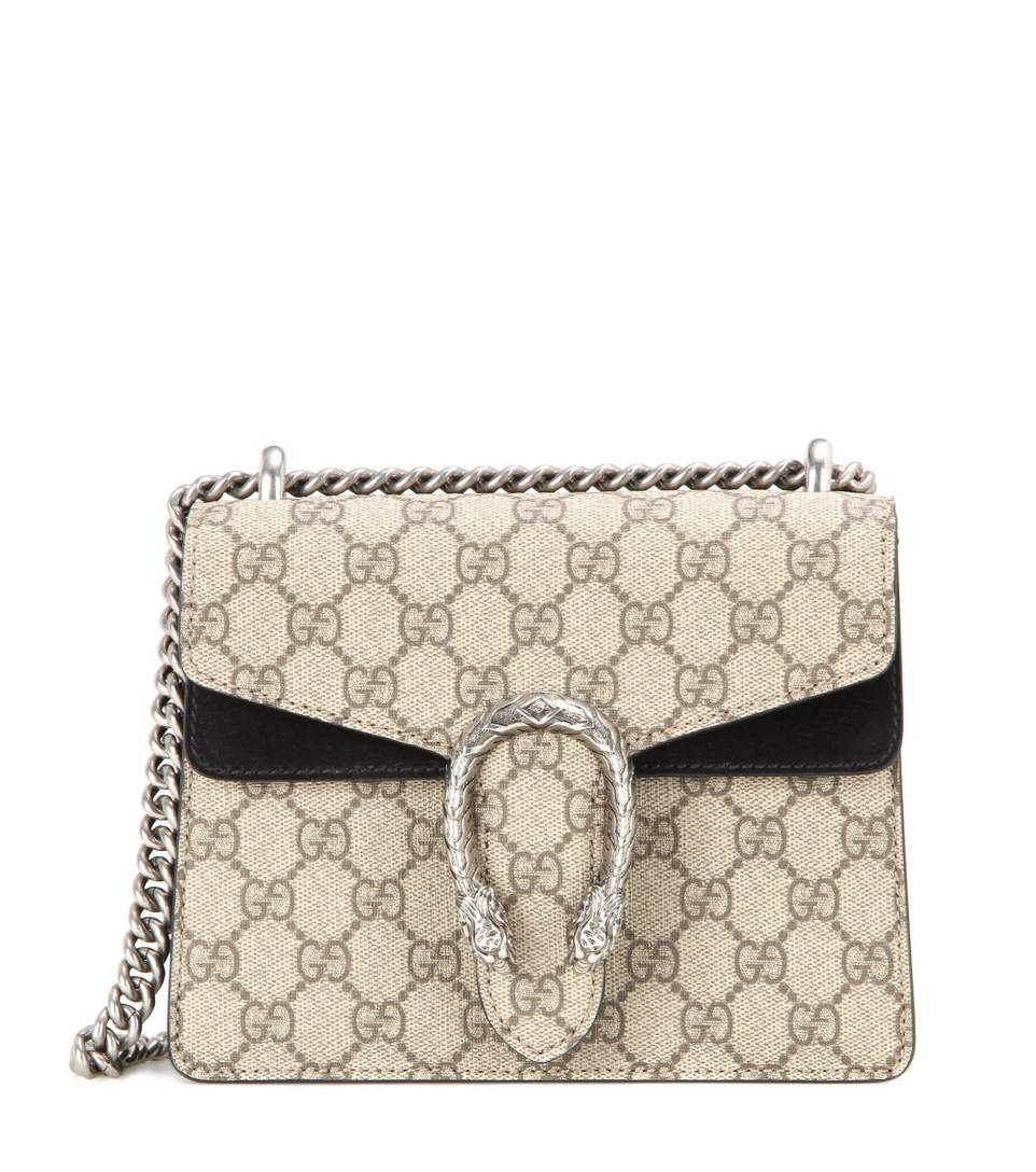 5281ad583392 Gucci Dionysus Gg Supreme Mini Shoulder Bag, Beige/Black | ModeSens