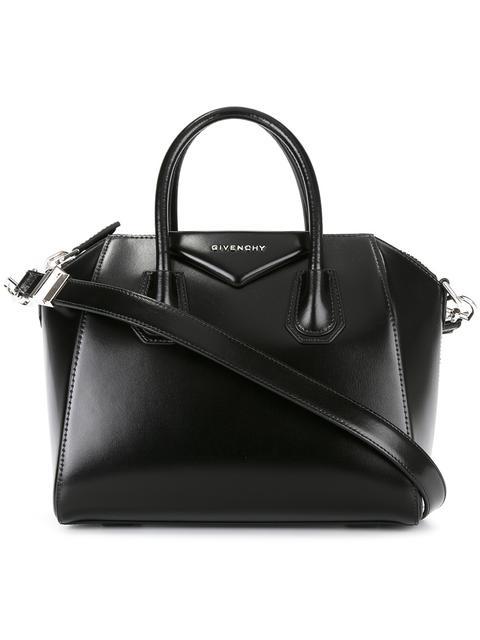 e9bc3d85f2 Givenchy Small Antigona Box Leather Satchel - Black