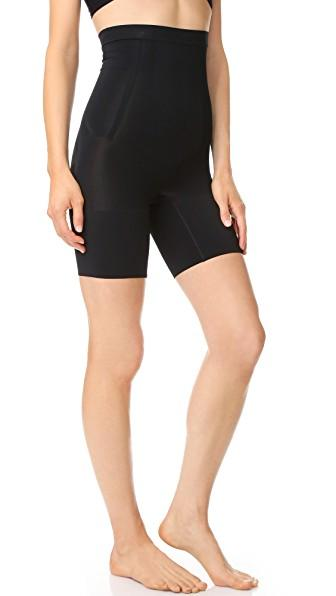 176d52e83e Spanx Oncore High Waisted Mid-Thigh Shorts In Very Black | ModeSens