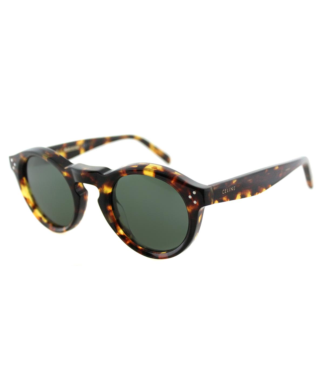 b00aae83eddf Celine Round Plastic Sunglasses In Blonde Tortoise