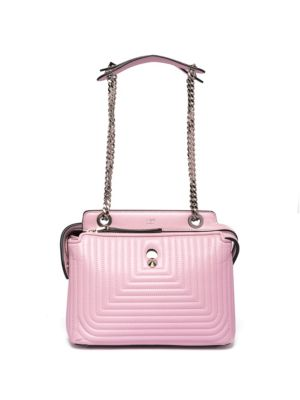 fb3093891145 Fendi Dotcom Click Quilted Leather Chain Satchel In Pink