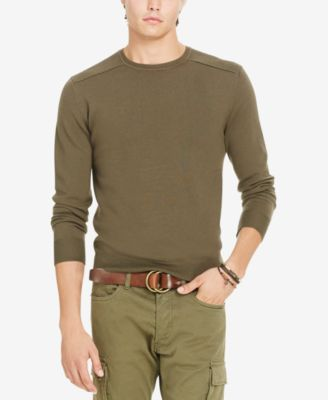 47b30c0a2ae Polo Ralph Lauren Merino Wool Moto Sweater In Green
