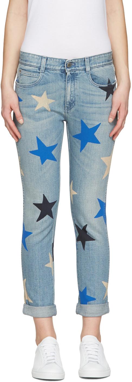 Stella Mccartney Skinny Ankle Grazer Multicolor Star Jeans