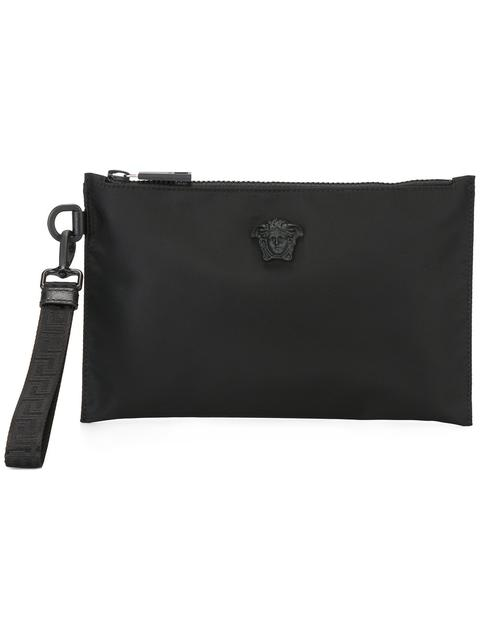 de0bbdc2cb83 Versace Palazzo Medusa Clutch Bag In Black