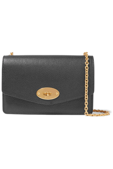 9974e957a6fd Mulberry Postman S Lock Grained Leather Shoulder Bag In Black