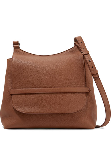 The Row Sideby Pebbled Calfskin Crossbody Bag In Brown