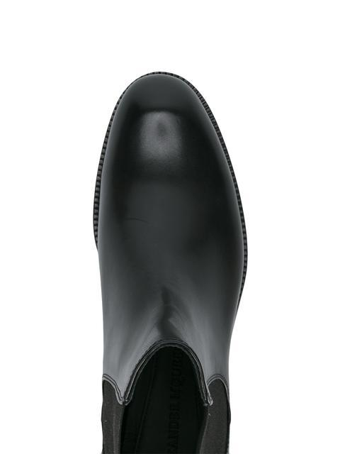 Alexander Mcqueen Embellished Leather Chelsea Boots In Black