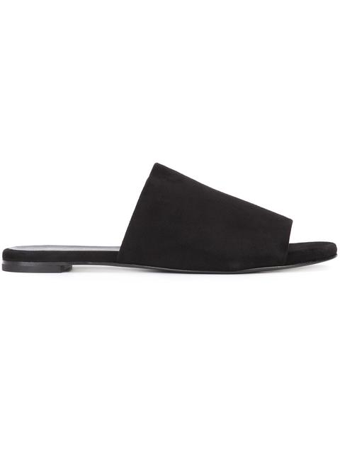 Robert Clergerie Gigy Suede Mule Slide Sandal, Light Blue In Black