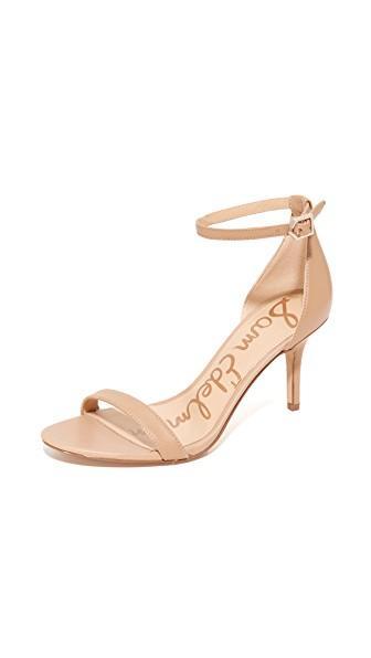 7a8dea2449cb Sam Edelman  Patti  Faux Patent Leather Sandals In Classic Nude ...