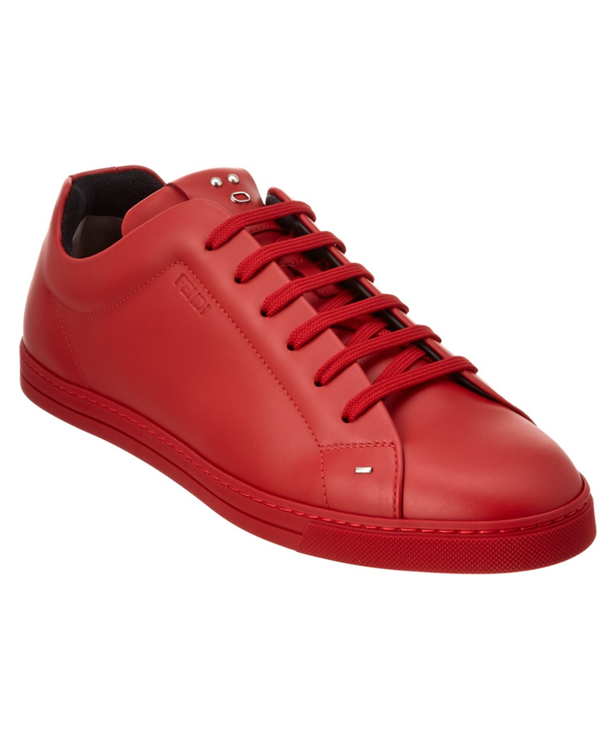 Fendi Men S Face Leather Low-Top Sneaker, Red In Scarlet-Red   ModeSens b371b8f6e0