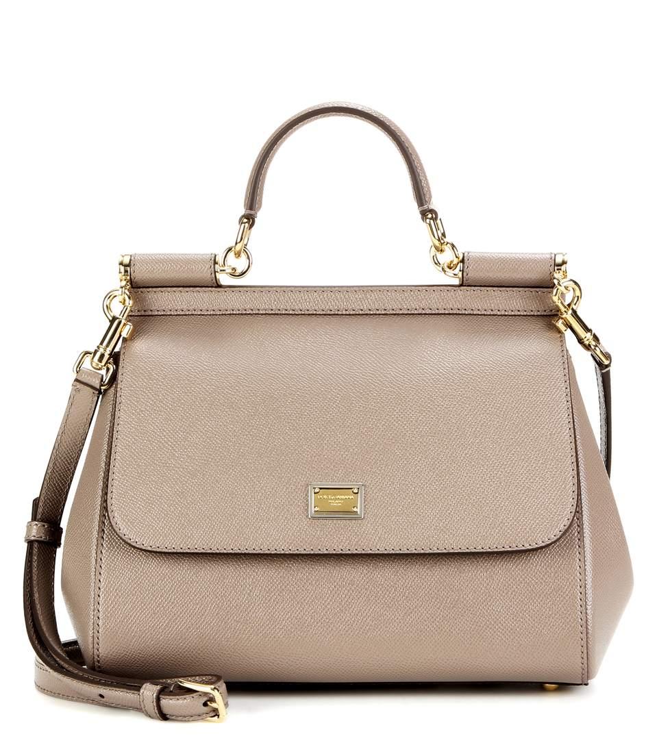 97df47cab29 Dolce & Gabbana Miss Sicily Medium Leather Shoulder Bag In Neutrals ...