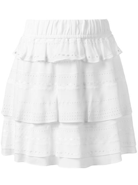 Iro Ruffled Layered Skirt In White