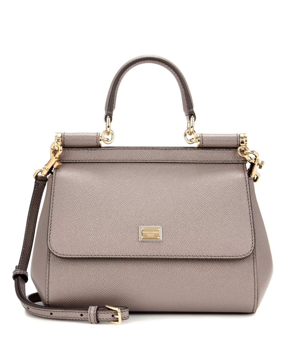 Dolce   Gabbana Sicily Small Leather Shoulder Bag In Grey   ModeSens 643ccb4610