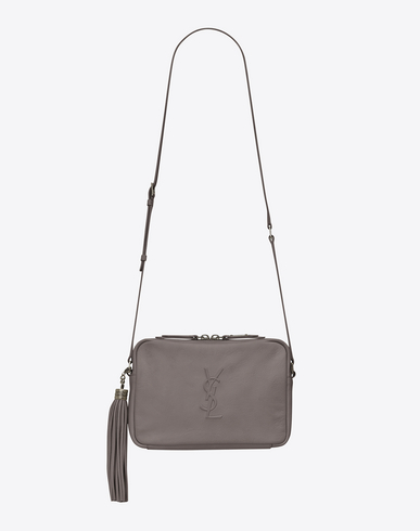 2b89d77ff43b Saint Laurent Small Mono Leather Camera Bag - Grey In Fog