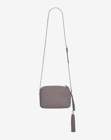 8c822622485 Saint Laurent Small Mono Leather Camera Bag - Grey In Fog | ModeSens
