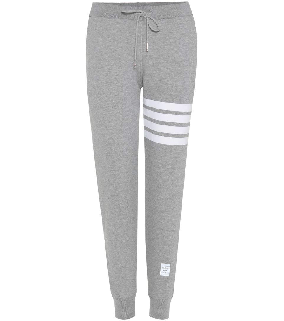Thom Browne Classic Sweatpants In Classic Loop Back With Engineered 4-bar In Grey
