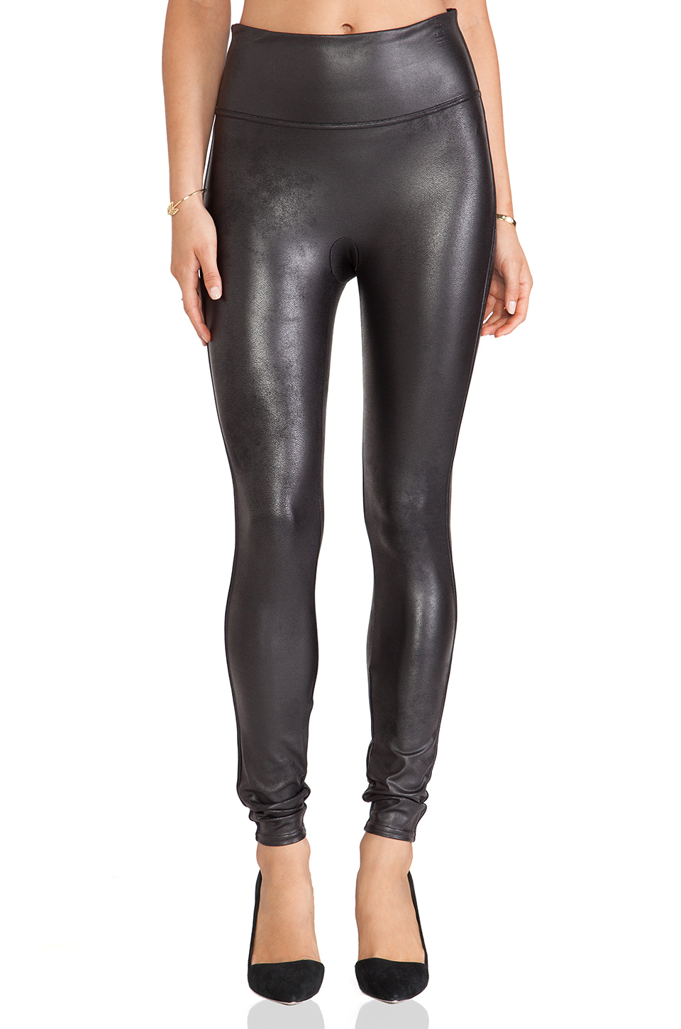 5a9b1f68ad288 Spanx Ready-To-Wow&Trade; Faux-Leather Leggings, Black | ModeSens