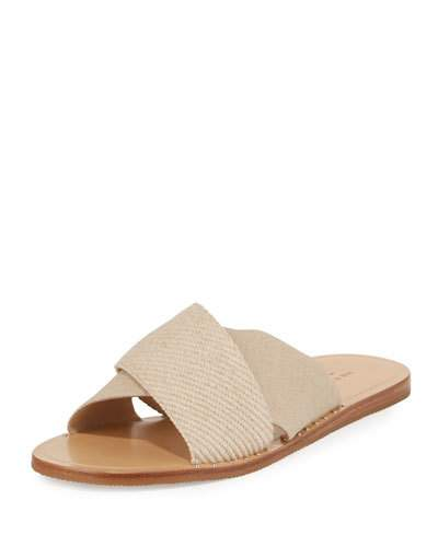 efe811610de9 Rag   Bone Keaton Flat Crisscross Canvas Slide Sandals