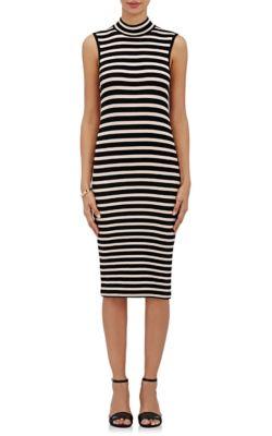 318592c0658 Atm Anthony Thomas Melillo Sleeveless Striped Stretch Jersey Dress ...