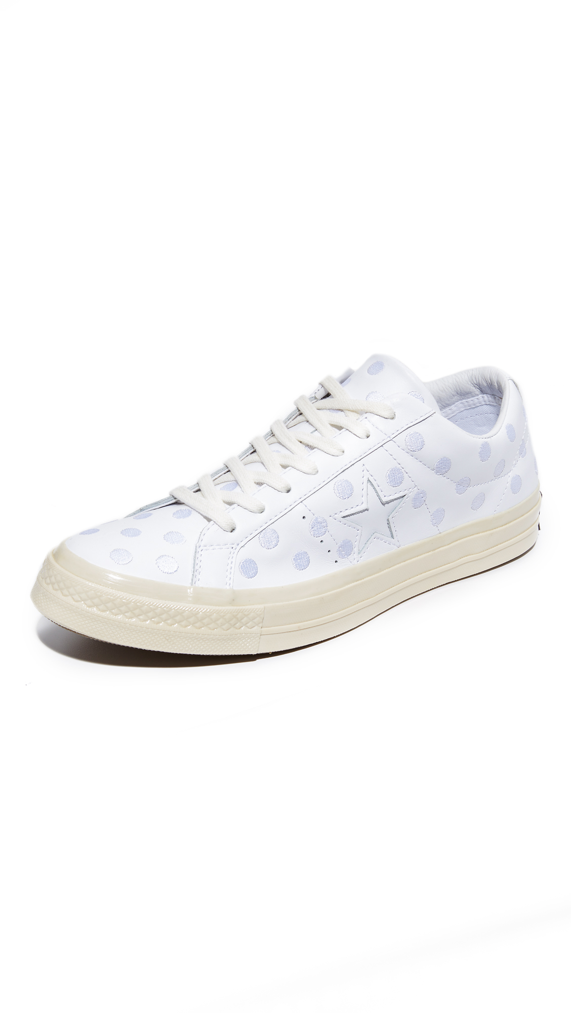 85dcf1459bac Converse One Star 74 Leather Dot Sneaker In White White