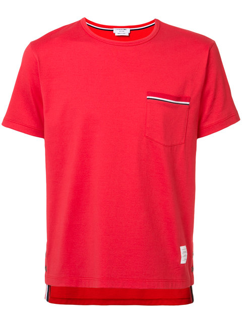 aed9efecd32 Thom Browne Pocket Tee Red Cotton T-Shirt In 600 Red | ModeSens