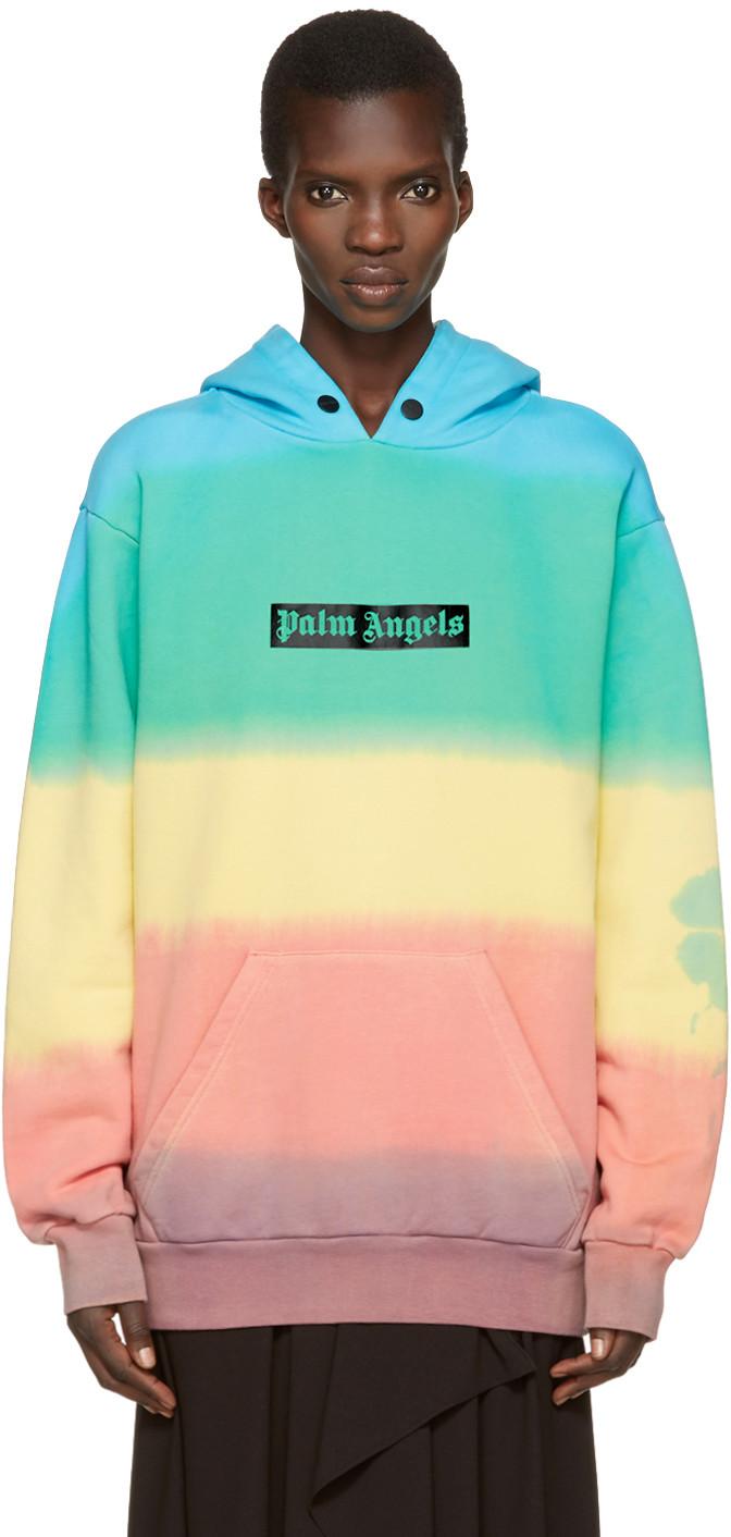 tie con con efecto multicolor capucha Rainbow multicolor dye de Sudadera Angels xUqAHH