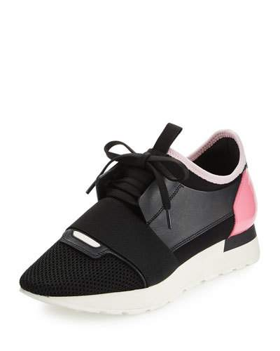 b4ef2bbefc63 Balenciaga Race Runner Sneakers With Leather