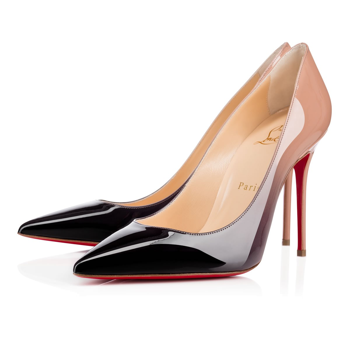 fc3f5007a8d1 Christian Louboutin Decollete 554 In Black-Nude