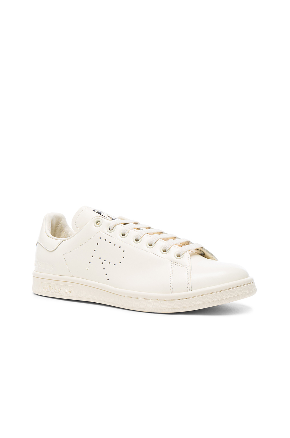online store c4684 344c1 Raf Simons Off-White Adidas Originals Edition Stan Smith Sneakers In Cream  White