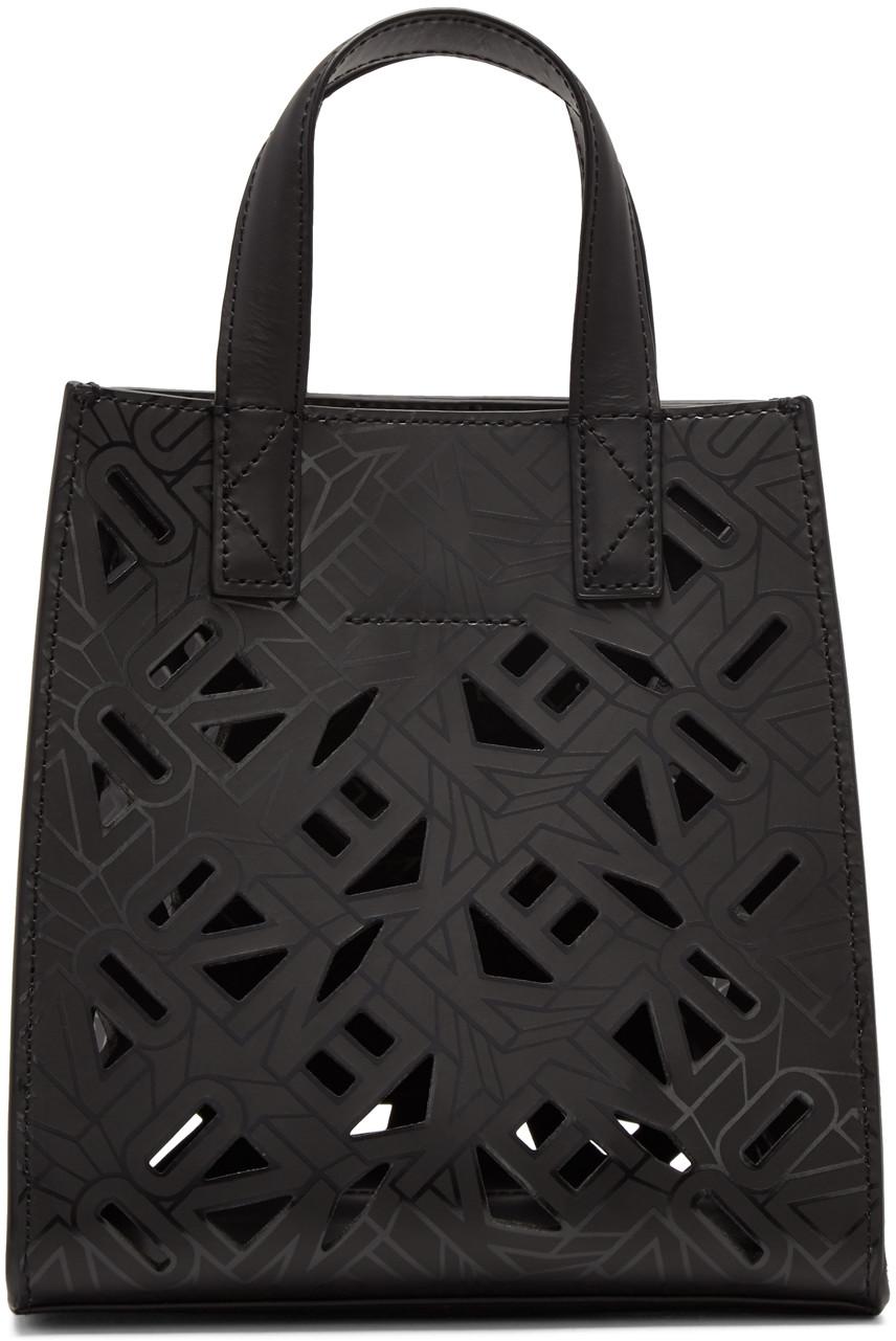 284c514e51e Kenzo Black Flying Logo Tote Bag In 99 Black | ModeSens