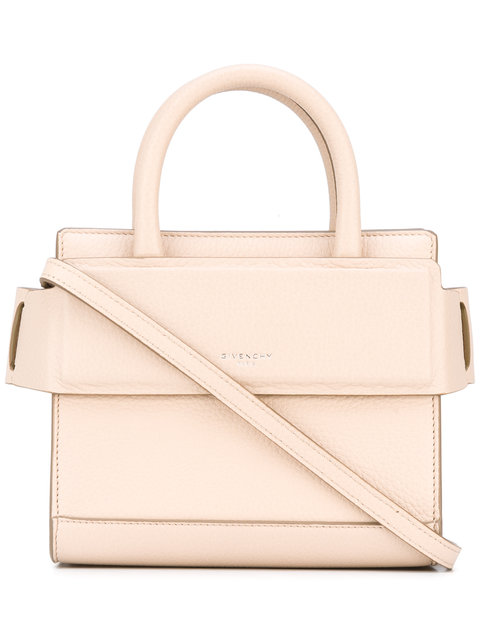Givenchy Mini Horizon Grained Calfskin Leather Tote - Pink In Nudepink f1aaf9fbe2f6a
