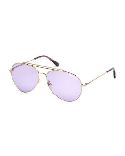 bdff3c6450 Tom Ford Metal Aviator Sunglasses In No Color