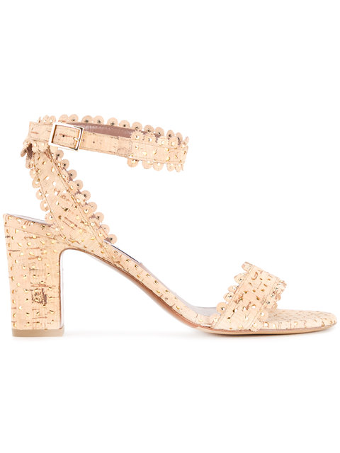 Tabitha Simmons Leticia Scalloped Cork Sandal, Natural/gold In Eat Cork