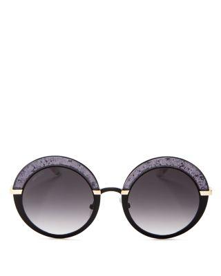 baae24e8dee9 Jimmy Choo Gotha Glitter Round Sunglasses