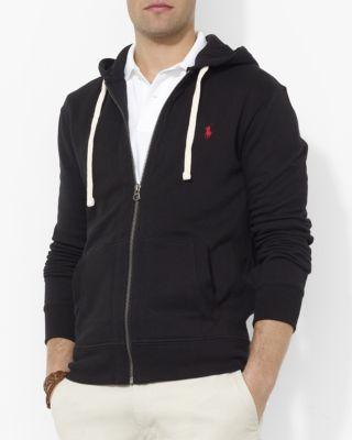 Polo Ralph Lauren Men S Big And Tall Classic Fleece Full Zip Hoodie In Polo  Black a305d9924