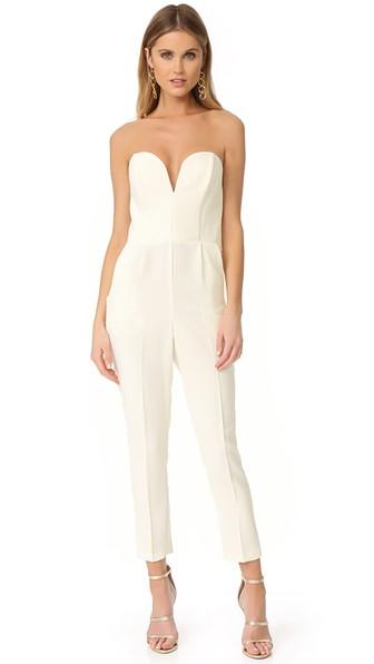 436997965c31 Amanda Uprichard Cherri Strapless Jumpsuit In Ivory