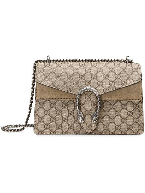 66012aa9fa Gucci Super Mini Dionysus Gg Supreme Canvas & Suede Shoulder Bag In 8642  Beige