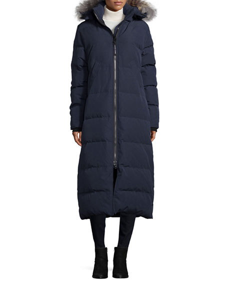 Canada Goose Mystique Fur-Hood Parka, Admiral Blue In Medium Blue