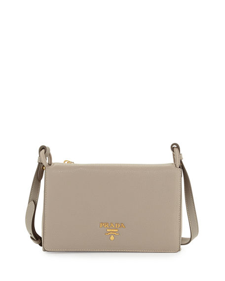 Prada Vitello Daino Double-Gusset Shoulder Bag 4367d44eb1163
