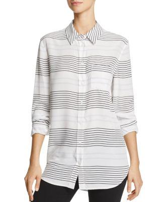 2ff6d9263c8e0e Equipment Reese Striped Long-Sleeve Oxford Shirt